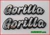 ป้ายเพลท  GORILLA สีเงิน คู่ละ 350.-