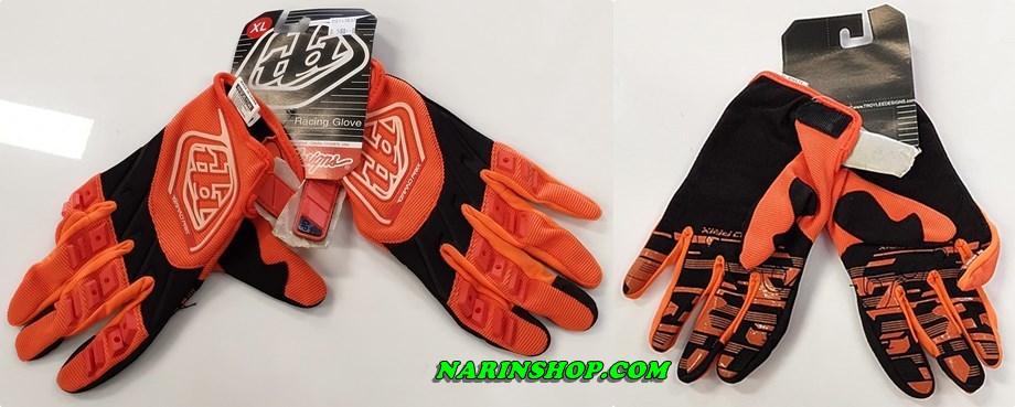 ถุงมือ ยี่ห้อ Troy Lee Designs สีส้ม-ดำ