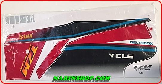 สติกเกอร์ Yamaha-TZM รุ่น 2 ปี 95 ติดรถสีแดง