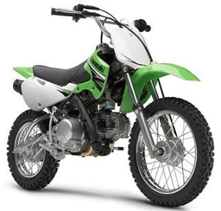 บังโคลนหน้า KLX 110 แท้ศูนย์ มีสีเขียว