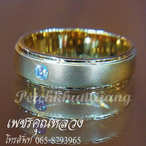 เซ็ตแหวนแต่งงาน สำหรับคุณลูกค้าที่ชอบแบบเห็นเพชรเม็ดเดียวชัดๆ 3