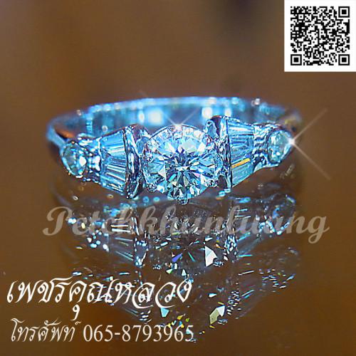 เซ็ตแหวนหมั้น แหวนแต่งงาน ตัวเรือนทองคำขาว สำหรับคุณลูกค้าที่ไม่เน้นเพชรแต่ดีไซน์ เรียบหรู 1