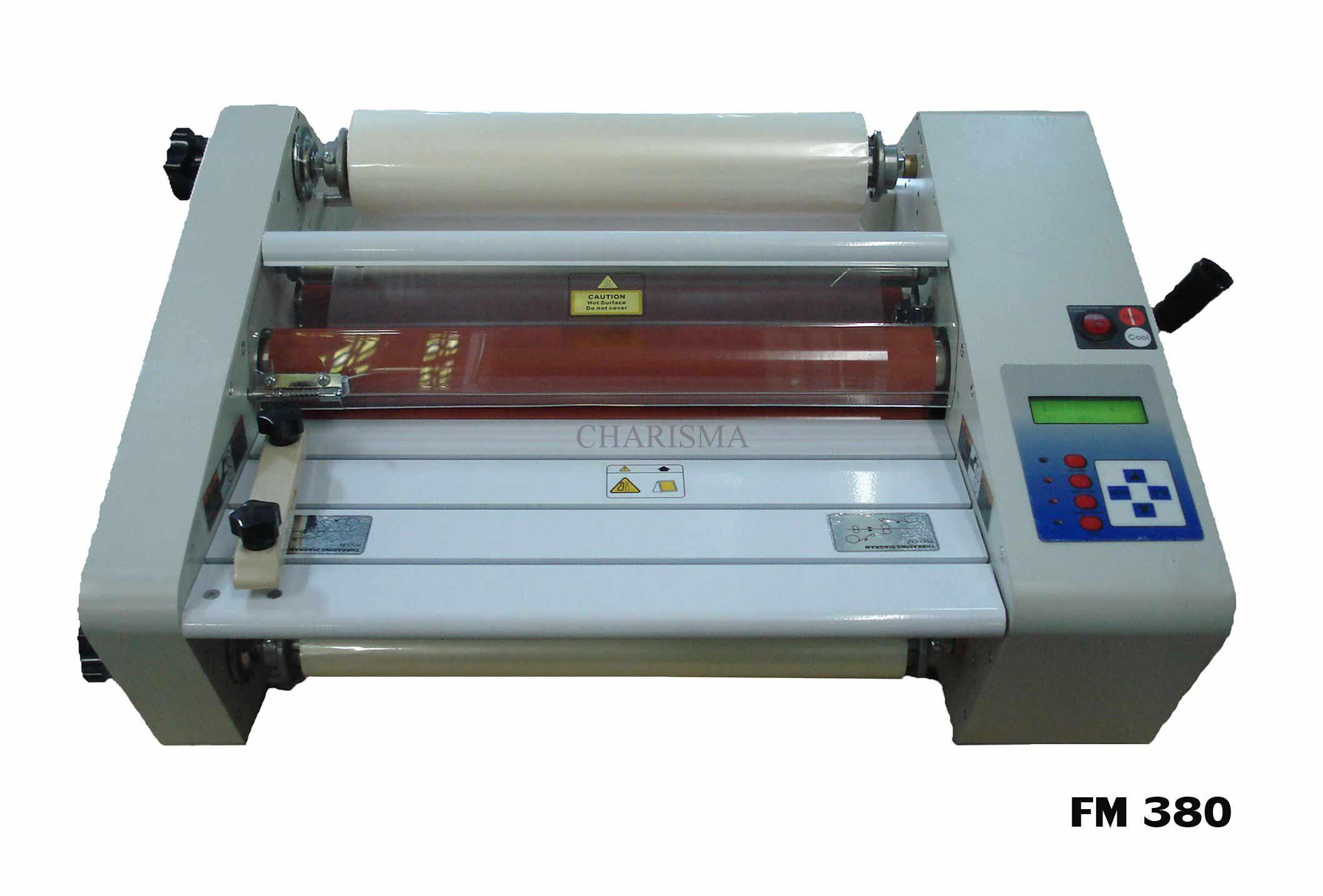 เครื่องเคลือบ UV FM-380 เคลือบแบบม้วน เคลือบปก นามบัตร 2 หน้าพร้อมกันได้ 1