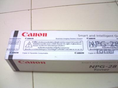 หมึกเครื่องถ่ายเอกสาร CANON NPG28 แท้ สำหรับ IR2016/2020/2318/2320