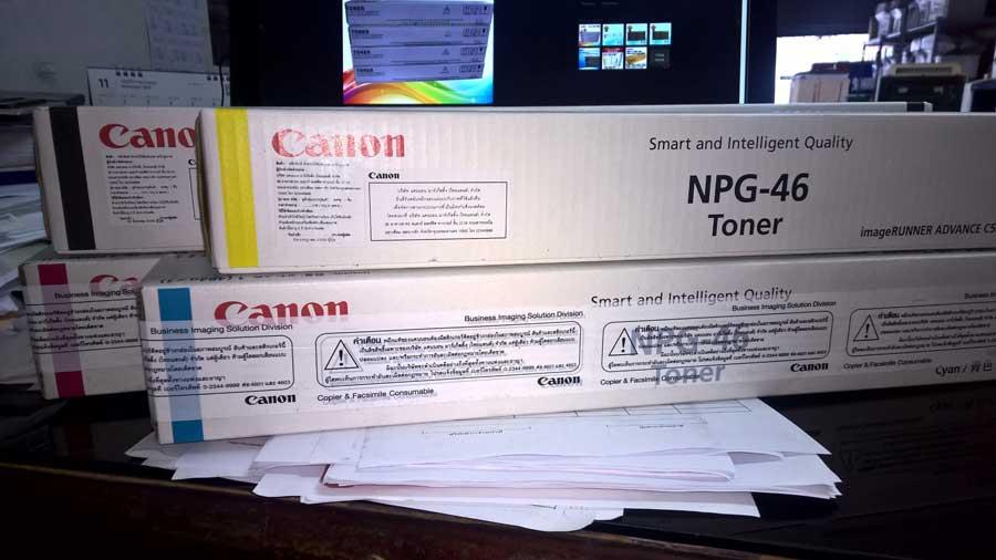 ชุดหมึกเครื่องถ่ายเอกสารสี CANON ADVANCE C5030/C5035/C5235/C5240 NPG-46 4สี C/M/Y/K