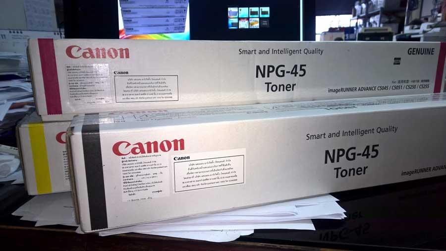 ชุดหมึกเครื่องถ่ายเอกสารสี CANON ADVANCE C5045/C5051/C5245/C5251 NPG-45 4สี C/M/Y/K