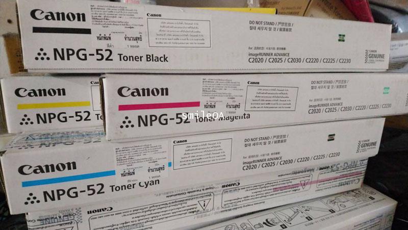 TONER CANON NPG 52 หมึกเครื่องถ่ายเอกสารมี CANON ADVANCE C2020, C2020H,2025H, C2030H