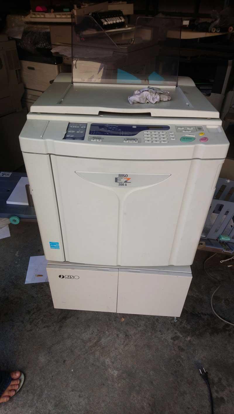 เครื่องพิมพ์สำเนาระบบดิจิตอลมือสอง RISO EZ200 สภาพสวยพร้อมใช้ ลูกโมสีดำ 4