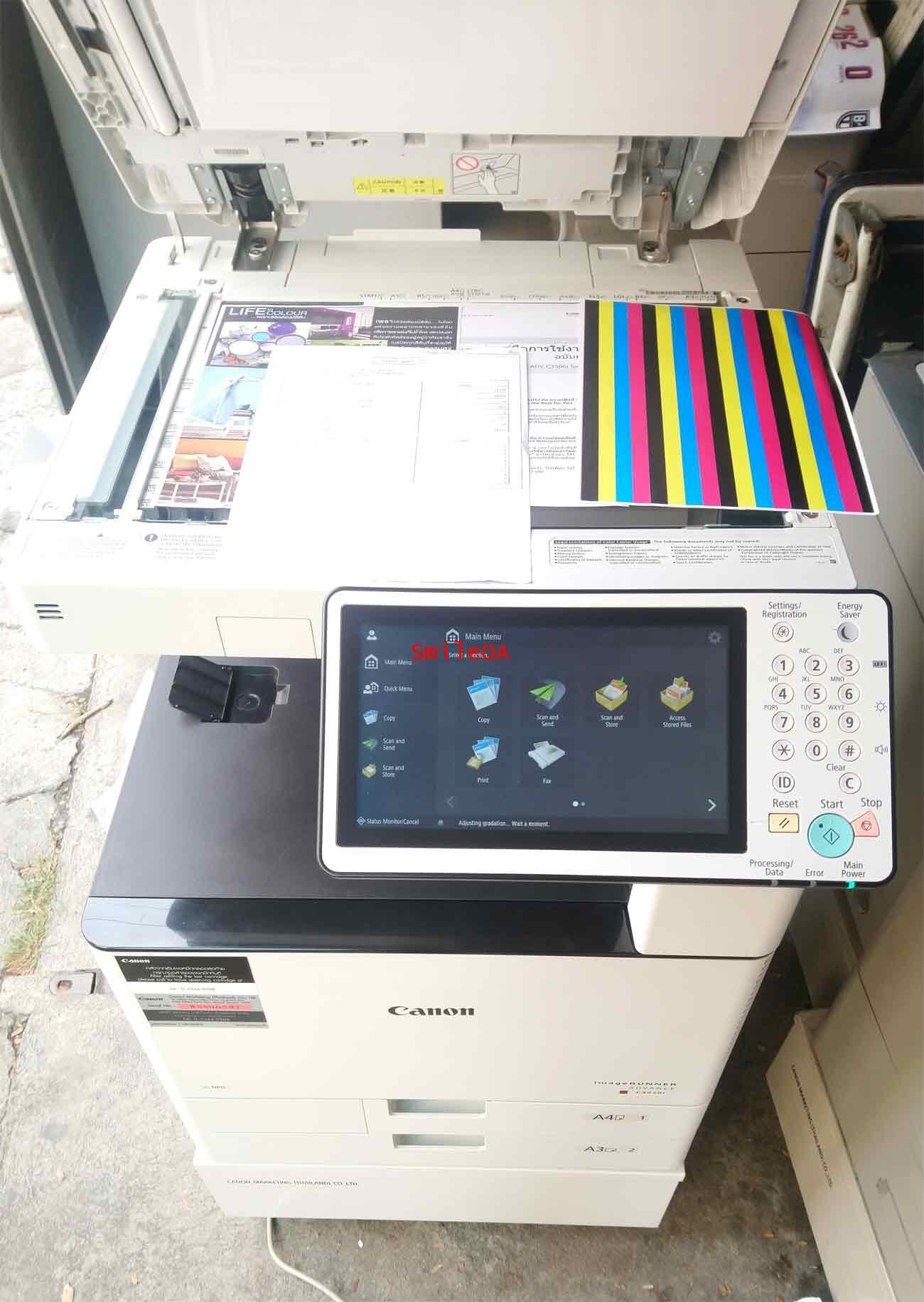 เครื่องถ่ายเอกสารสีมือสอง CANON Advance C3525i รุ่นใหม่ชนห้าง มิเตอร์น้อยมาก