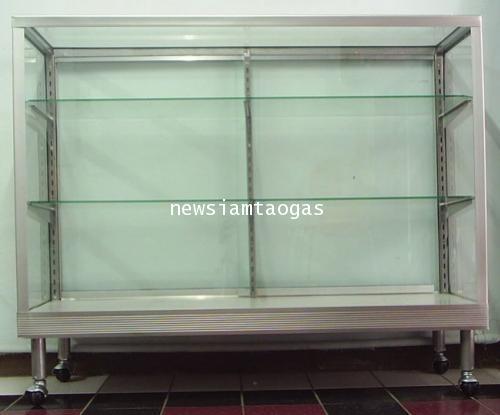 ตู้โชว์กระจก หลายไซด์ สำหรับโชว์สินค้า ขนม เครื่องประดับ มีล้อเลื่อนได้ เคลื่อนที่ได้สะดวก ราคาพิเศษ