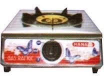 เตาแก๊สตั้งโต๊ะหัวเดี่ยวยี่ห้อ ฮานาย่า หัวเตาเหล็กหล่อรุ่นKSP-1สเตนเลสทั้งตัว