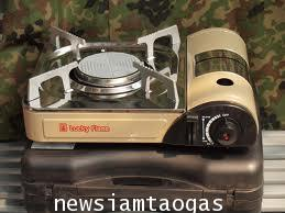 เตาแก๊สแบบพกพายี่ห้อลัคกี้เฟลมรุ่น LF-90iเป็นสเตนเลสหัวเตาเป็นอินฟาเรดประหยัดแก๊สมีระบบเซฟตี้วาลล์ปล