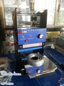 เครื่องซีลฝาแก้ว Semi-Auto ยี่ห้อซันชายรุ่น SH-CSM05-1ใช้สำหรับแก้วขนาดเล็กเช่นแก้วน้ำดื่ม