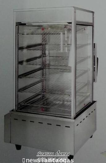 ตู้นึ่งซาลเปาใช้แก๊สรุ่น R500Lสามารถนึ่งอาหารได้หลากหลาย  รูปทรงสวยงาม  สามารถมองเห็นสินค้าได้