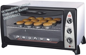 เตาอบขนมเค้กยี่ห้อ HOUSE WORTHรุ่นHW-8089ขนาดความจุ 42ลิตรวัสดุข้างในจะขจัดกลิ่นอาหารโดยอัตโนมัติ
