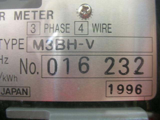 WATT HOUR METER  M3BH-V,220/380V,5A มือสอง