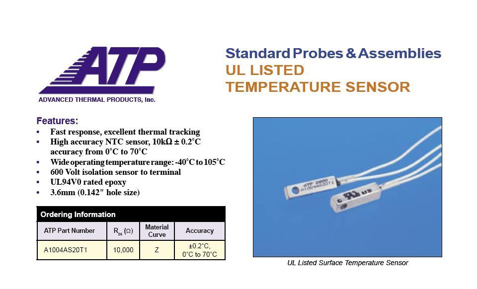 Industrial Temperature Sensors Block Sensor Square Aluminum A1004AS20T1