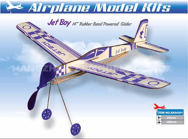 RP-030 JET BOY  BALSA RUBBER POWER AIRPLANE