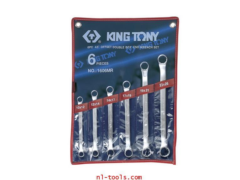 ประแจแหวน2ข้างคอ45องศา,Kingtony 1606MR 6ตัวชุด(เครื่องมือช่าง)