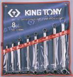 ประแจแหวน2ข้างคอ75องศา,Kingtony 1708MR 8ตัวชุด