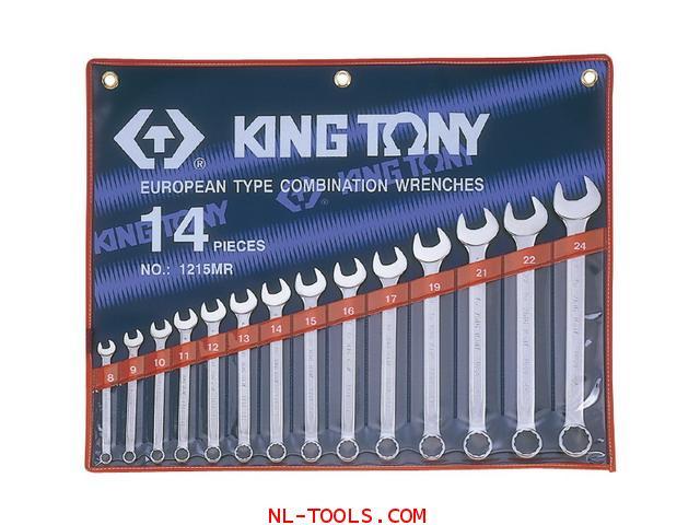 ประแจแหวนข้าง,Kingtony 1215MR 14ตัวชุด(เครื่องมือช่าง)
