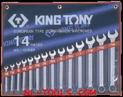 ประแจแหวนข้างหุน,Kingtony 1214SR 14ตัวชุด(เครื่องมือช่าง)