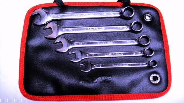 ประแจแหวนข้าง,BAHCO 5ตัว/ชุด(เครื่องมือช่าง)