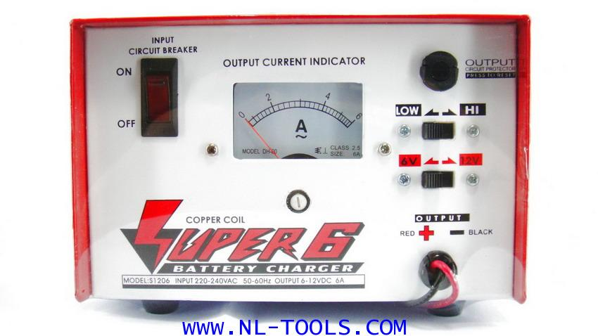 เครื่องชาร์จแบตเตอรี่  SUPER 6 แอมป์ 6-12 V (IMV)(ทองแดงแท้)