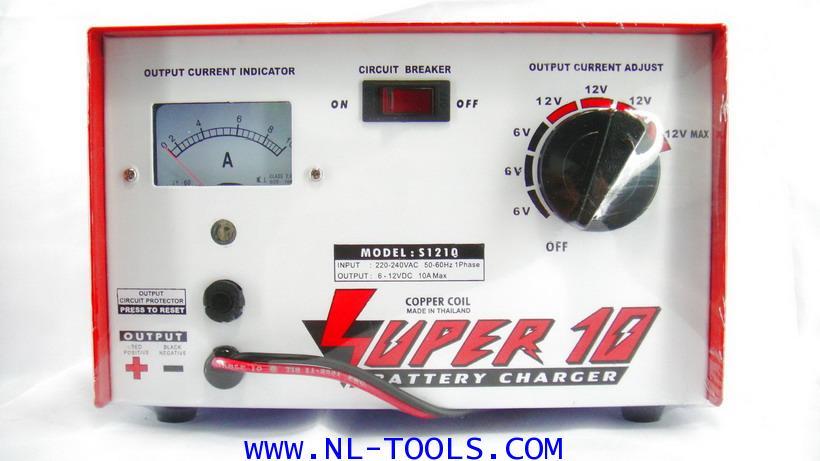 เครื่องชาร์จแบตเตอรี่  SUPER 10 แอมป์ 6-12 V (JJMV)(ทองแดงแท้)