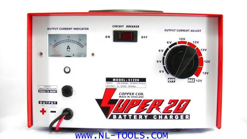 เครื่องชาร์จแบตเตอรี่  SUPER 20 แอมป์ 6-12 V(JNW)(ทองแดงแท้)