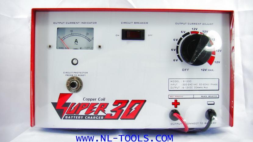 เครื่องชาร์จแบตเตอรี SUPER 30 แอมป์ 6-12 V (JPW)(ทองแดงแท้)