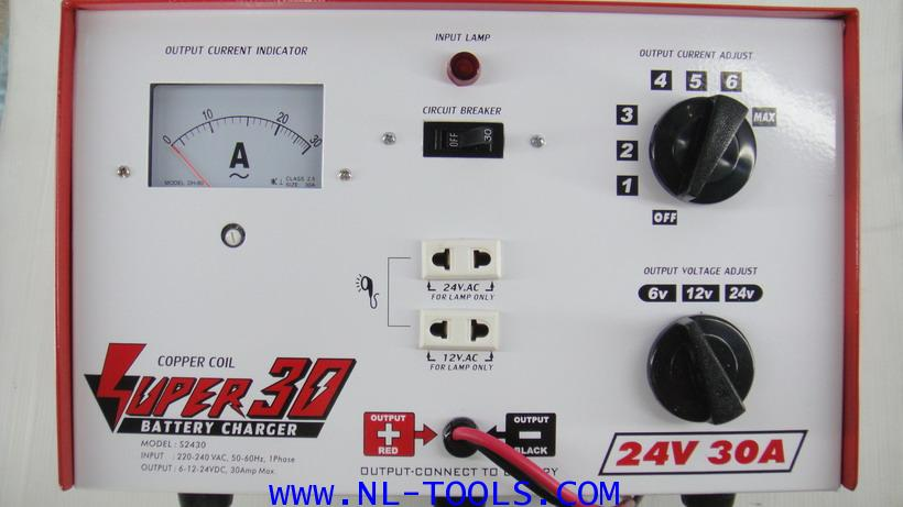 เครื่องชาร์จแบตเตอรี่  SUPER 30 แอมป์ 6-24 v (KTW)(ทองแดงแท้)