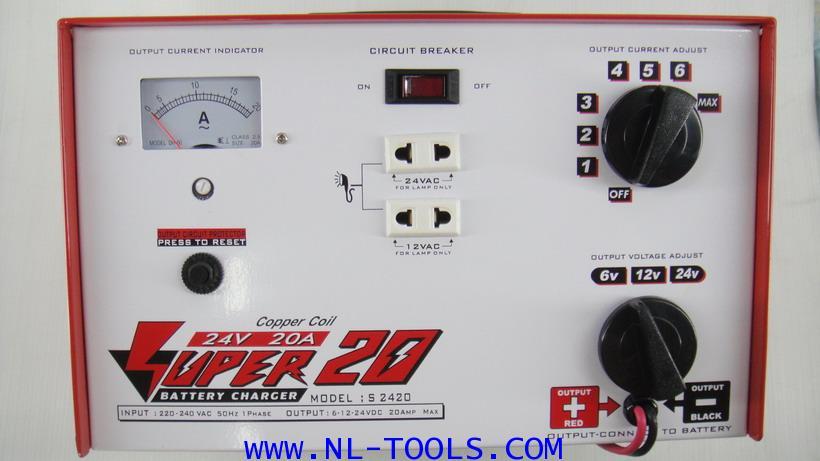 เครื่องชาร์จแบตเตอรี่  SUPER 20 แอมป์ 6-24 V (JDW)(ทองแดงแท้)