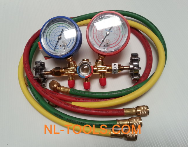เกจวัดน้ำยาแอร์ COOLMAX CM-536-R12R22(JKW) (เครื่องมือแอร์)(เครื่องมือช่าง)