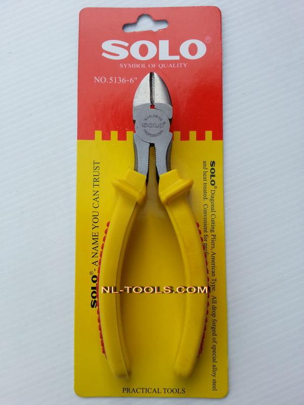 คีมปากตัดด้ามเหลือง SOLO NO.5136-6 นิ้ว (เครื่องมือช่าง)