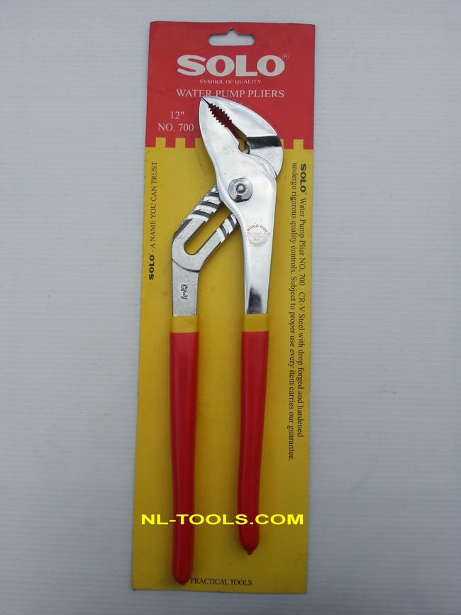 คีมคอม้าปากโค้งด้ามดำแดง SOLO NO.700-10 นิ้ว (เครื่องมือช่าง)
