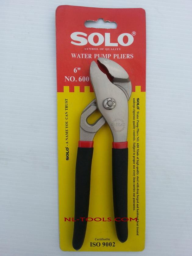 คีมคอม้าปากโค้งด้ามดำแดง SOLO 6-8 นิ้ว (เครื่องมือช่าง)