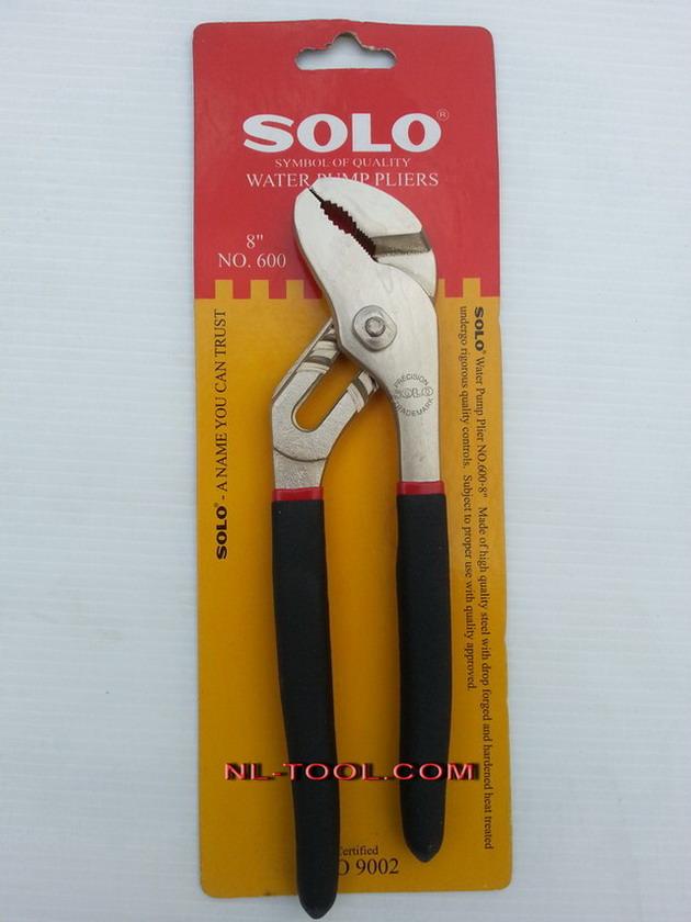 คีมคอม้าปากโค้งด้ามดำแดง SOLO NO.600-8 นิ้ว (เครื่องมือช่าง)
