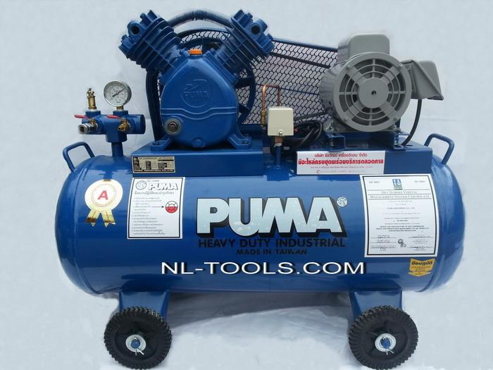 ปั้มลม PUMA รุ่น PP–21 ไต้หวัน  ขนาด 1 HP ความจุ 92 L (JM,MW)(เครื่องมือช่าง)