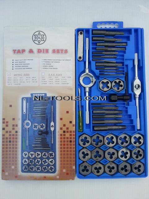 ต๊าปเกลียวชุด STARNIC 40 ชิ้น มิล ขนาด 3-12 มิล ผลิตในจีน(TW)
