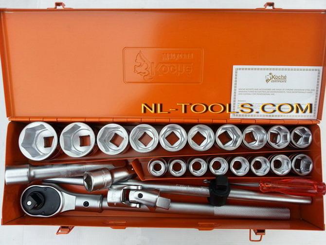 บล็อคชุด KOCHE  รู 3/4นิ้ว 24  ตัวชุด(MJW)เครื่องมือช่าง