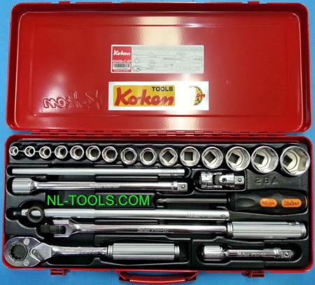 ชุดบล็อก,Koken 1/2 นิ้วหรือ 4 หุน,4244M+C,23ตัวชุด(เครื่องมือช่าง)