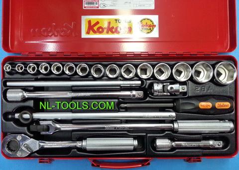 ชุดบล็อก,Koken 1/2 นิ้วหรือ 4 หุน,4244M+C,23ตัวชุด(เครื่องมือช่าง) 1