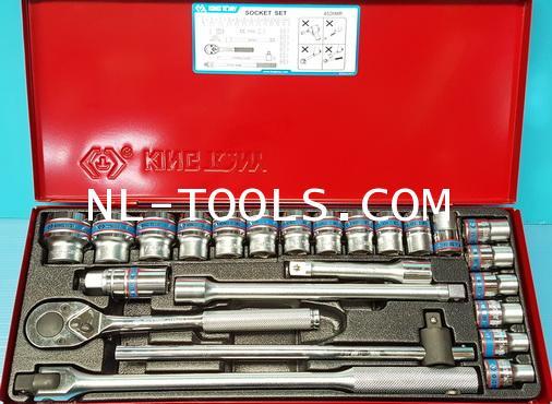 ชุดบล็อกหุน Kingtony 1/2 นิ้ว หรือ 4 หุน, 6เหลี่ยม 4526SR,24ตัวชุด(เครื่องมือช่าง)