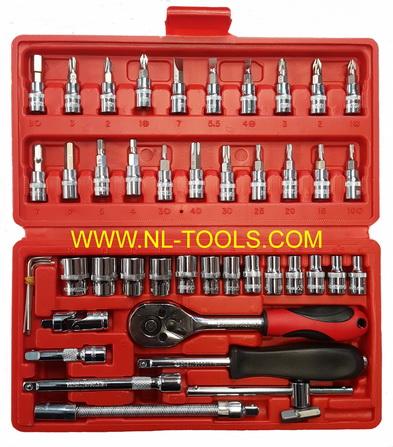 ชุดบล็อก EURO King tools 1/4นิ้ว หรือ 2หุน , 45ตัวชุด 6P (OMV)(เครื่องมือช่าง)