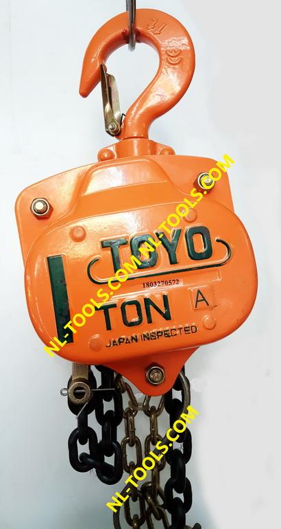 รอกโซ่สาว TOYO, 1 TON โซ่ยกยาว 10 เมตร (รอกโซ่)(เครื่องมือช่าง)(KMMV)
