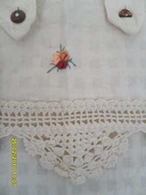 ผ้าม่านหน้าต่างผ้าฝ้ายปักดอกและหัว-ชายผ้าถักโคเชร์แบบคอกระเช้า 14