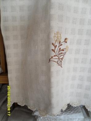 ผ้าม่านหน้าต่างผ้าฝ้ายปักดอกถักโครเชร์หัวผ้าม่านและชายผ้าม่านแบบสอด 27