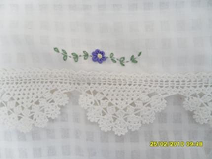ผ้าม่านหน้าต่างผ้าฝ้ายปักดอกถักโครเชร์หัวผ้าม่านและชายผ้าม่านแบบสอด 8