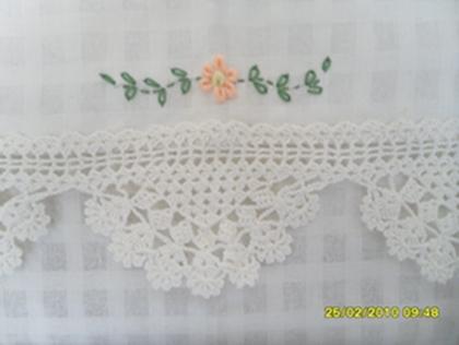 ผ้าม่านหน้าต่างผ้าฝ้ายปักดอกถักโครเชร์หัวผ้าม่านและชายผ้าม่านแบบสอด 9